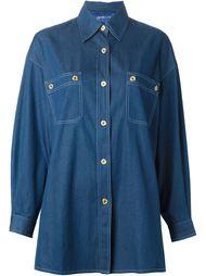 джинсовая рубашка свободного кроя Guy Laroche Vintage