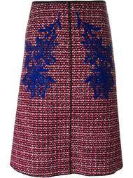 твидовая юбка с гипюровыми вставками Marc Jacobs