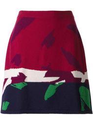 юбка с принтом мазков кисти   Barrie