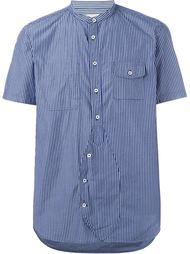 полосатая рубашка с короткими рукавами Wooster + Lardini