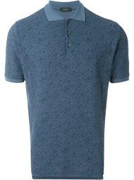 футболка-поло с цветочным узором Zanone