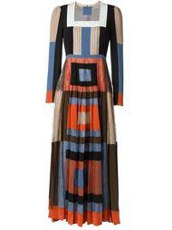 платье с геометрическим узором  Valentino