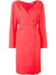 платье с запахом и поясом Nina Ricci