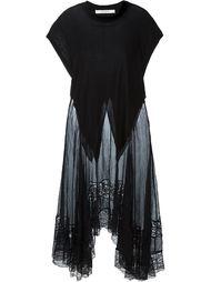 платье с кружевной вставкой Givenchy