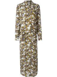платье макси с цветочным принтом  Agnona