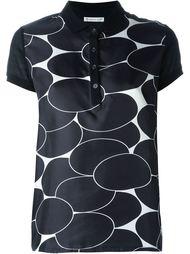 футболка-поло с узором Moncler