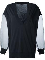 свитер с прозрачными рукавами Ann Demeulemeester
