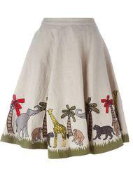 юбка с вышивкой Alice+Olivia