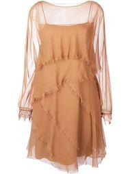 платье с необработанными краями   Alberta Ferretti