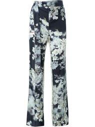 классические брюки с цветочным принтом Calvin Klein Collection