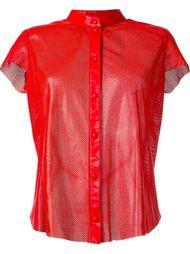 перфорированная рубашка без воротника  Drome