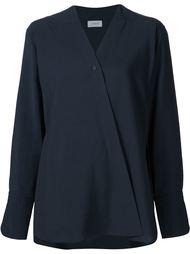 блузка с V-образным вырезом с запахом Lemaire