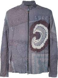 куртка на молнии с вставкой кроше By Walid