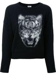 свитер с изображением тигра  Saint Laurent