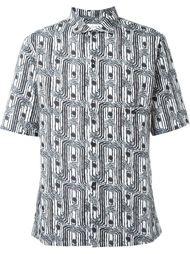 рубашка с принтом и короткими рукавами Lemaire