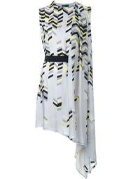 асимметричное платье с геометрическим принтом  Kolor