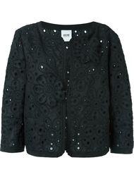 пиджак с цветочной вышивкой Moschino Vintage
