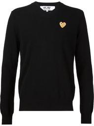 свитер с вышивкой-сердцем Comme Des Garçons Play