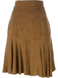 расклешенная юбка с абстрактным узором Alaïa Vintage