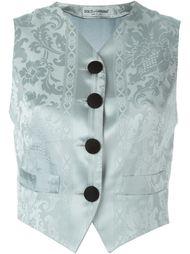жаккардовый жилет  Dolce & Gabbana Vintage