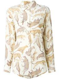 рубашка с принтом диких кошек Equipment