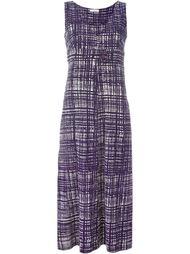 платье с сетчатым принтом Prada Vintage