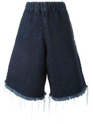 джинсовые шорты с бахромой Marques'almeida