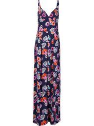 длинное платье с цветочным принтом Nicole Miller