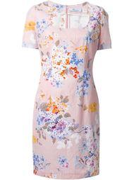 платье с цветочным принтом  Blumarine