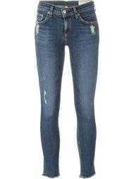 укороченные джинсы с потертой отделкой Rag & Bone