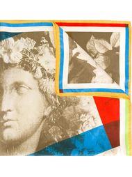 платок с цветочным принтом Claude Montana Vintage