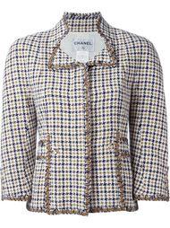 пиджак в ломаную летку Chanel Vintage