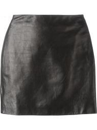 кожаная мини-юбка Roberto Cavalli