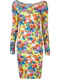 платье с принтом дорожных конусов Moschino