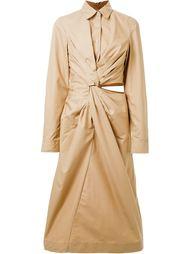 платье-рубашка с запахом Jil Sander