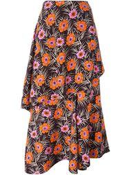 асимметричная юбка с цветочным принтом Marni