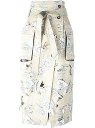 юбка с цветочным принтом  Maison Margiela