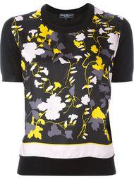 трикотажная футболка с цветочным принтом Salvatore Ferragamo