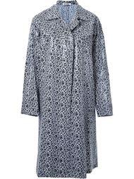однобортное пальто с цветочным принтом Jil Sander