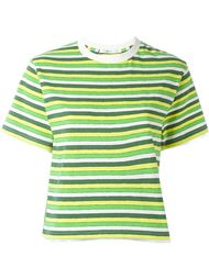 полосатая укороченная футболка Julien David