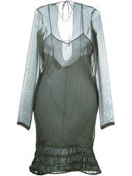 прозрачное платье с длинными рукавами Romeo Gigli Vintage