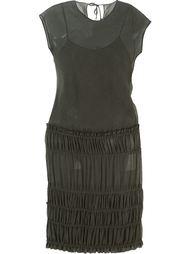 прозрачное платье с присборенной отделкой Romeo Gigli Vintage
