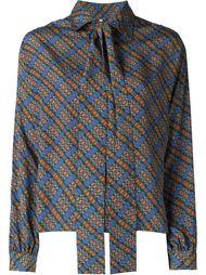 блузка с отделкой в виде шарфа Yves Saint Laurent Vintage