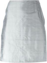 юбка с разрезом сбоку Romeo Gigli Vintage