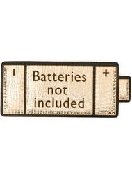 стикер 'Batteries Not Included' Anya Hindmarch