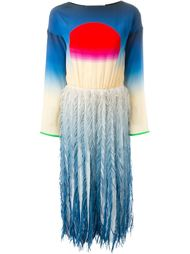 платье миди с бахромой Marco De Vincenzo