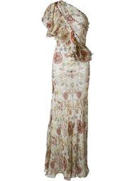вечернее платье на одно плечо  Alexander McQueen