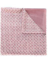 шарф с принтом-логотипом Salvatore Ferragamo