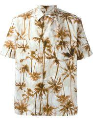 рубашка с принтом пальм Saint Laurent