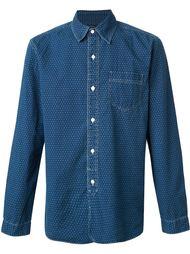 джинсовая рубашка в горошек Rrl